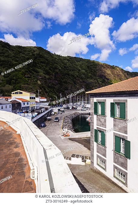 Townscape of Velas, Sao Jorge Island, Azores, Portugal