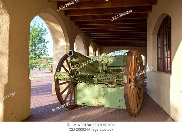 Columbus, New Mexico - Pancho Villa State Park. The park preserves the history of Villa's 1916 attack on the town and Camp Furlong, headquarters of the 13th U