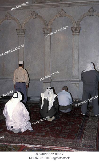 Umayyad Mosque - Men praying