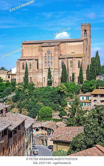 Basilica di San Domenico, Siena, Tuscany, Italy, Europe