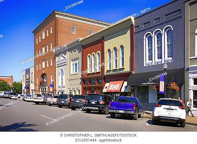 The Public Square in downtown Murfreesboro TN, USA