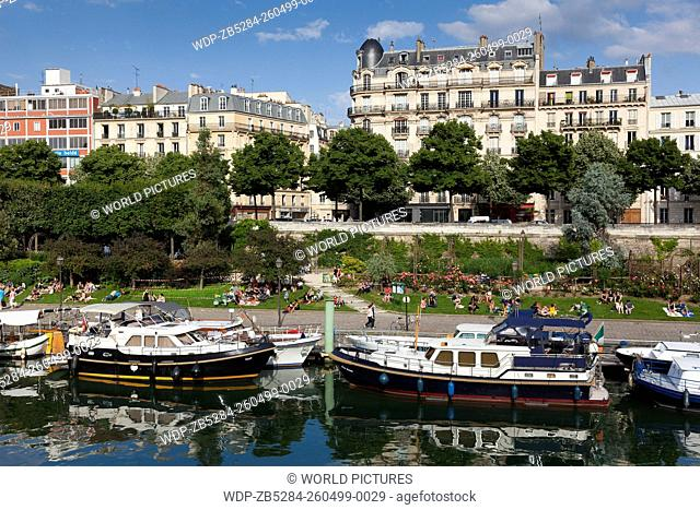 Port of the Arsenal, Canal Saint Martin, Paris, Ile-de-France, France