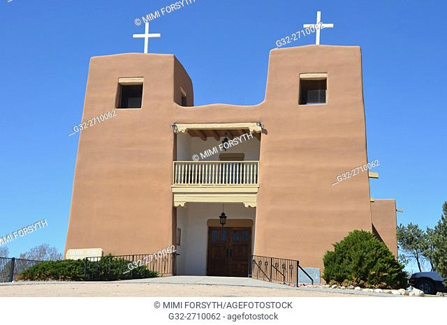 Sacred Heart church, Nambe, New Mexico, USA
