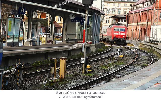 Train in Stralsund, Germany