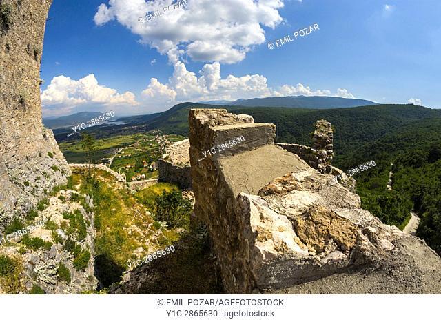 Old town Prozor atop town Vrlika