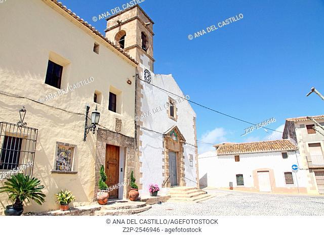 Church and convent in Jesus Pobre village Denia Alicante Spain
