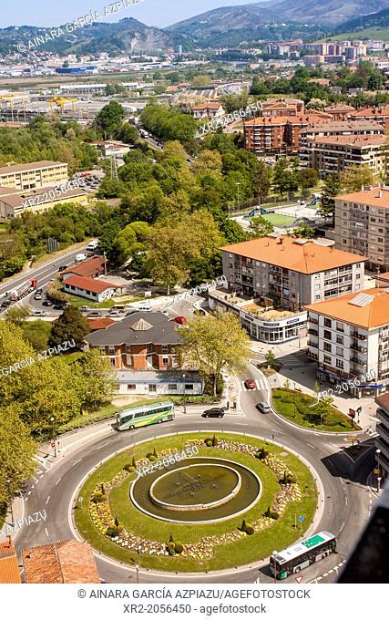 Aerial view of Irun, Guipuzcoa, Basque Country, Spain