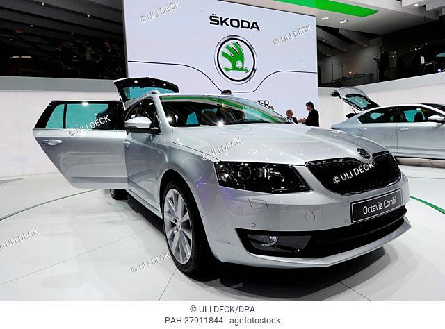 The Skoda Octavia Combi is presented at the 38th Geneva Motor Show at Palexpo in Geneva, Switzerland, 06 March 2013. Photo: ULIDECK   usage worldwide