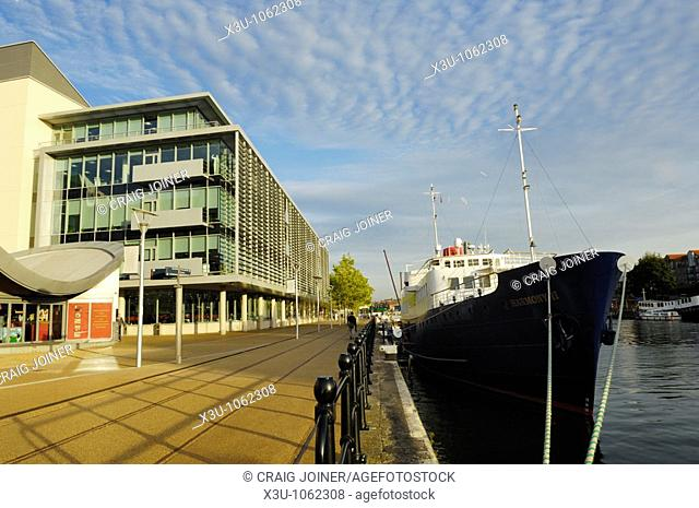 The cruise ship Harmony II berthed at Hannover Quay in the Bristol Floating Harbour , Bristol, England, United Kingdom