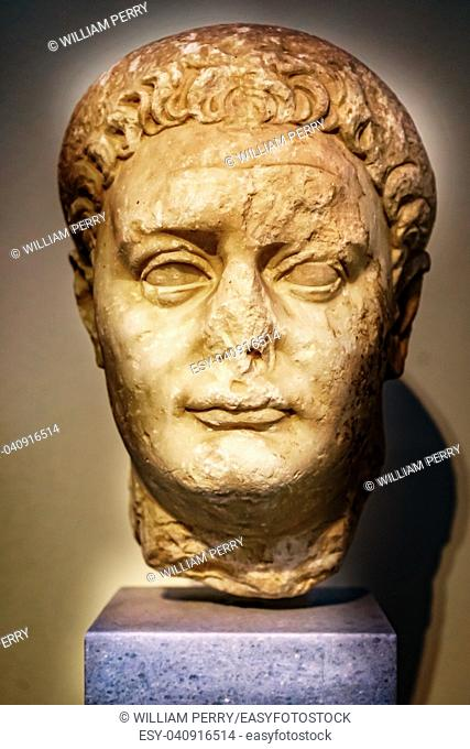 Emperor Domitian Statue National Archaeological Museum Athens Greece. From 81-96 AD