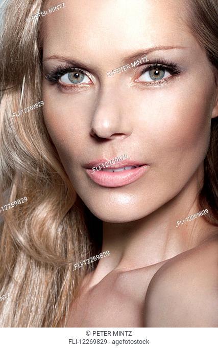 Close-up beauty portrait of a woman