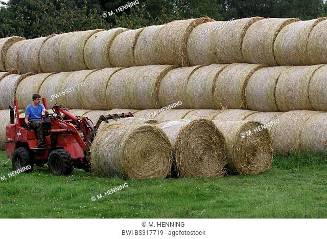 bales of straw, Germany