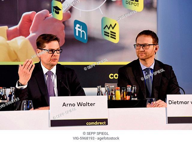 Deutschland, Frankfurt, 30.01.2018 Arno Walter (li), Vorstandsvorsitzender und der Finanzvorstand Dietmar von Bluecher, der comdirect bank AG