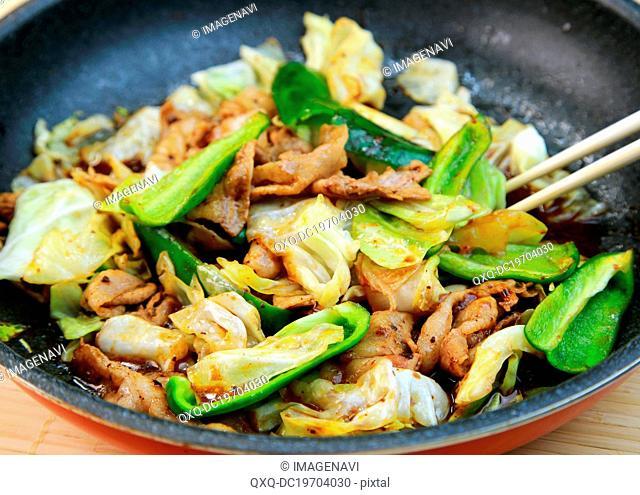 Chinese stir-fried pork