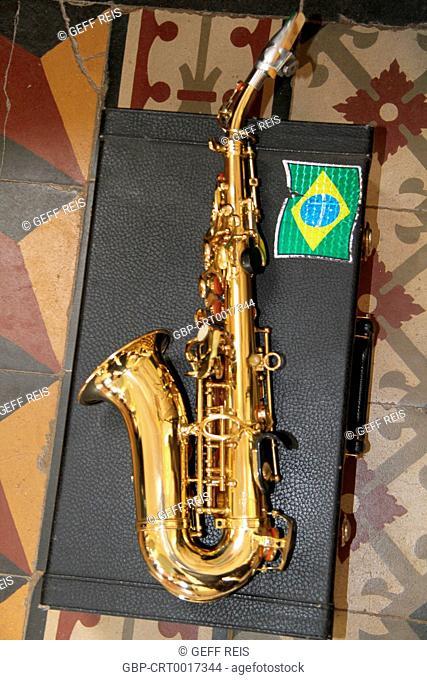 Saxophone, musical instrument, Church, 2016, Merces, Minas Gerais, Brazil
