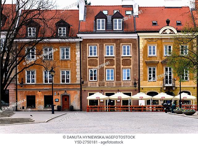 Residential buildings, Rynek Nowego Miasta, New Town Market Place, New Town , Nowe Miasto, Warsaw, Poland, Europe