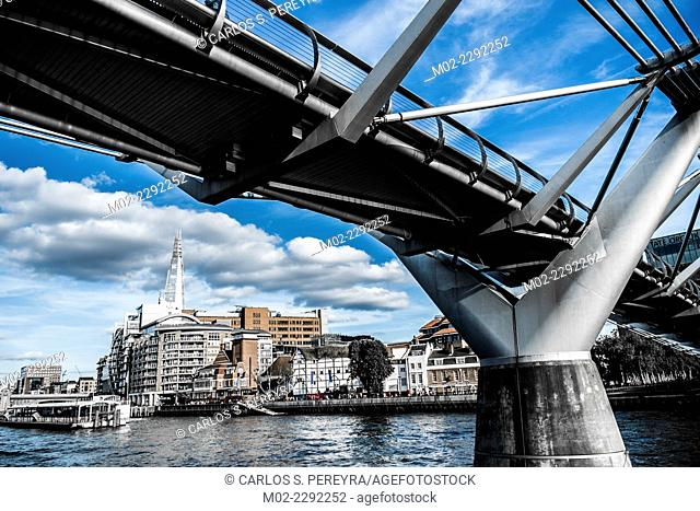 The Millenium Bridge at London, England