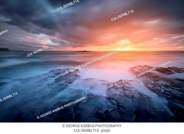 Stormy winter sunset, Crab Island, Doolin, Clare, Ireland