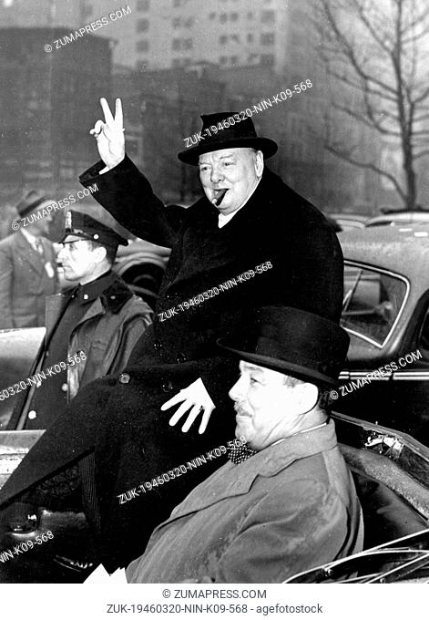 March 20, 1946 - New York, NY, U.S. - War leader WINSTON CHURCHILL was uniquely stirred by the challenge of war. In 1935 he warned the House of Commons of the...