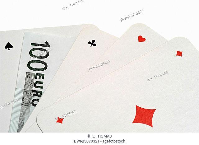 cards, money, 100 euro