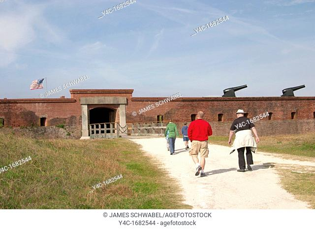 Entrance to Fort Clinch built 1812-1868 State Park on Amelia Island in northeast Florida  On the National Register of Historic Places