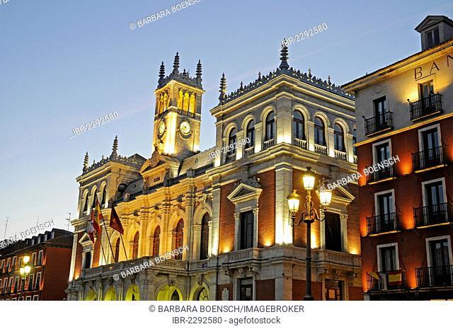 Town hall, Plaza Mayor, Valladolid, Castile and León, Spain, Europe, PublicGround