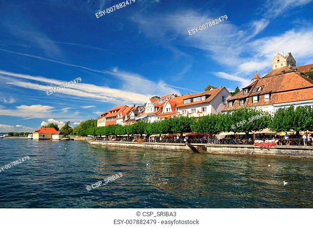 Views of the waterfront of Lake Constance. Meersburg