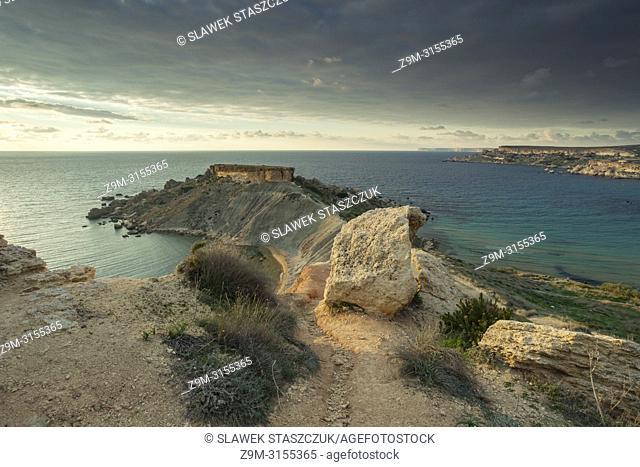 Sunset at Gnejna Bay on Malta