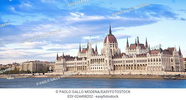 The Hungarian Parliament Building, a notable landmark of Hungary and a popular tourist destination of Budapest