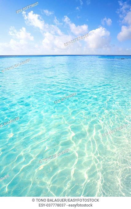 Cozumel island Playa Palancar beach in Riviera Maya of Mayan Mexico