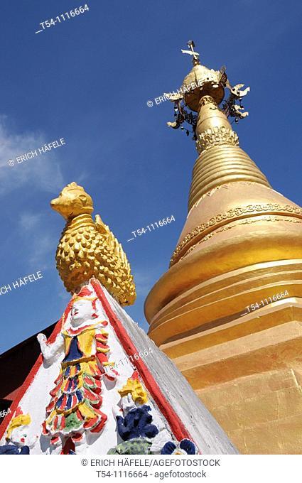 Colorfull Temple near Sanghlaburi