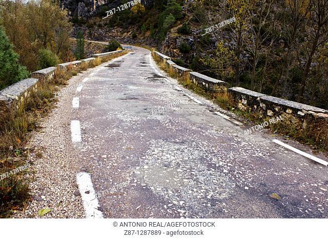 Carretera  Parque Natural del Alto Tajo  Guadalajara