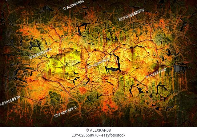 Abstract cracked dry rough surface pattern grunge background