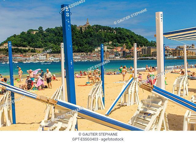 LA CONCHA BEACH, SAN SEBASTIAN, DONOSTIA, BASQUE COUNTRY, SPAIN