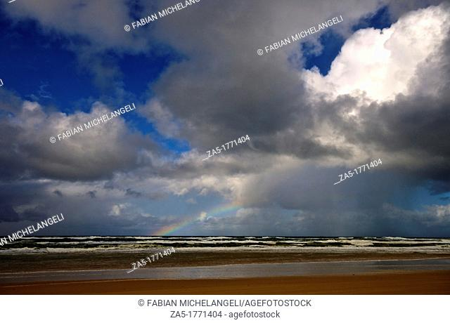Rainbow at Seventy Five Mile Beach  Fraser Island, Great Sandy National Park, Queensland, Australia