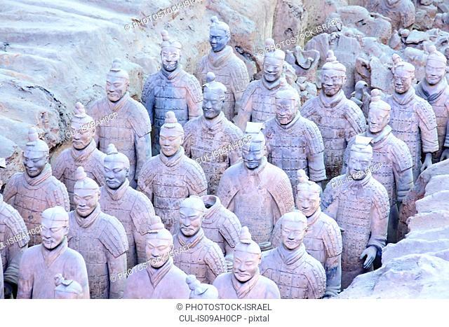 China, Xian Shaanxi, Army of Terracotta Warriors in Emperor Qin Shi Huang's Tomb