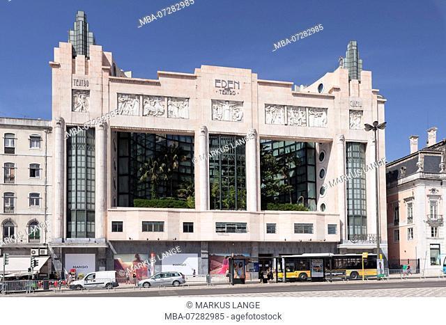Art Deco Eden Theater, Art Nouveau, Praca dos Restauradores, Avenida da Liberdade, Lisbon, Portugal