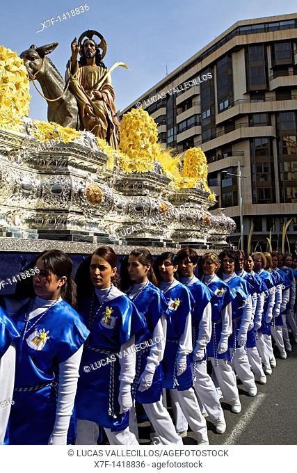 Palm Sunday procession procesión de Jesús triunfante, Elche  Alicante province, Comunidad Valenciana, Spain