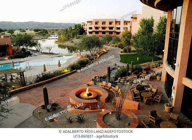 Sunset at Sheraton Wild Horse Pass Resort & Spa, Phoenix, Arizona, United States