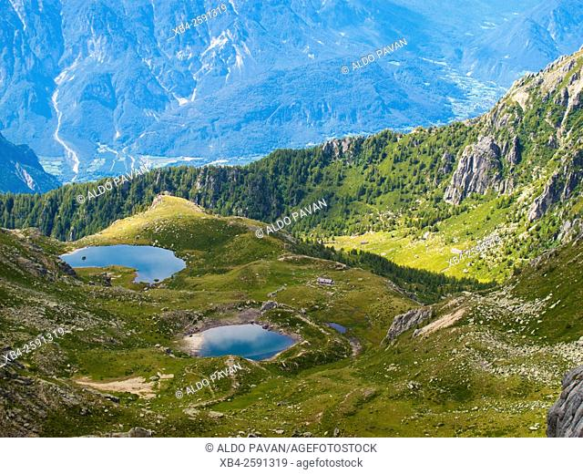 Val Campelle, view from Cresta del Frate, Lagorai, Italy