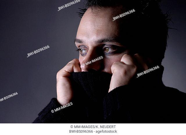 man in black, Germany