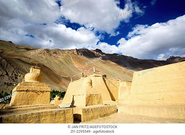 famous monastery of Tabo, Spiti valley, India