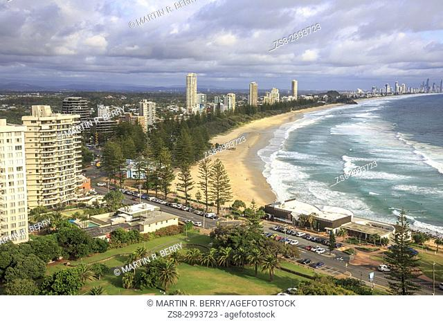 Burleigh Heads and burleigh beach on the Gold Coast in Queensland,Australia