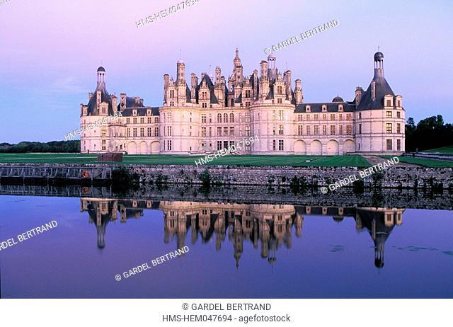France, Loir et Cher, Chambord castle Loire castles