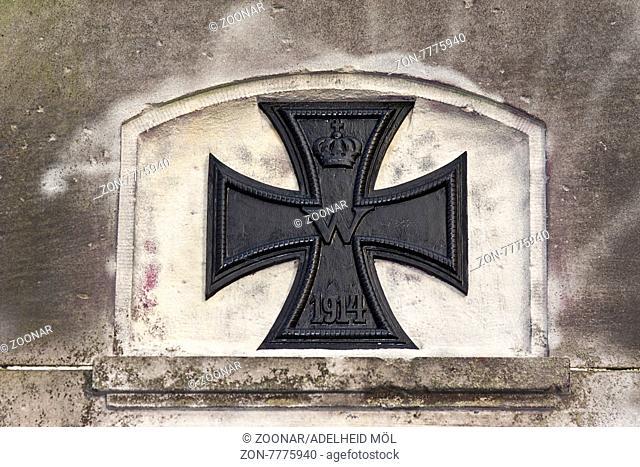Eisernes Kreuz, 1914, Kriegerdenkmal, 1. Weltkrieg, Alt-Marzahn, Berlin, Deutschland Iron Cross, 1914, War Memorial, World War 1, Alt-Marzahn, Berlin, Germany