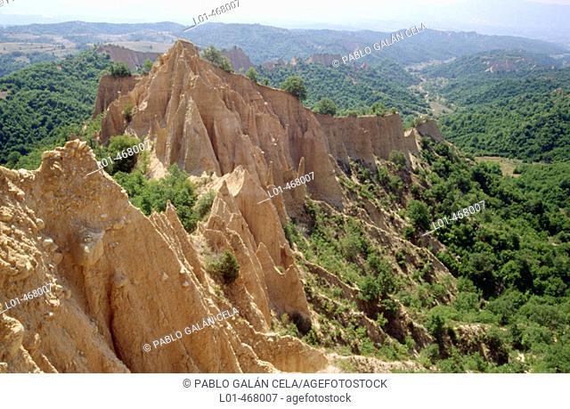 Earth pyramids. Near Melnik. Bulgaria