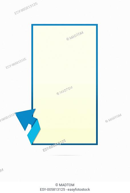 template with arrow element