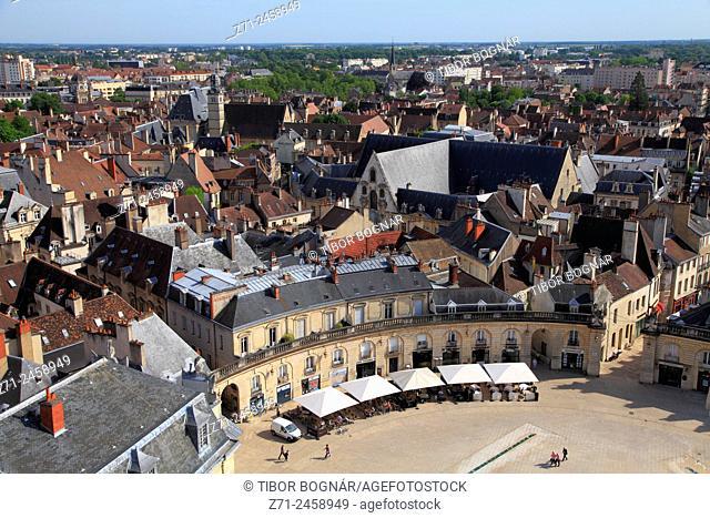France, Bourgogne, Dijon, Place de la Libération, aerial view
