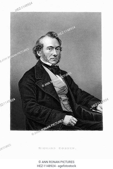Richard Cobden, British politician, economist and Lancashire calico manufacturer, c1870. Described as 'the Apostle of Free Trade'