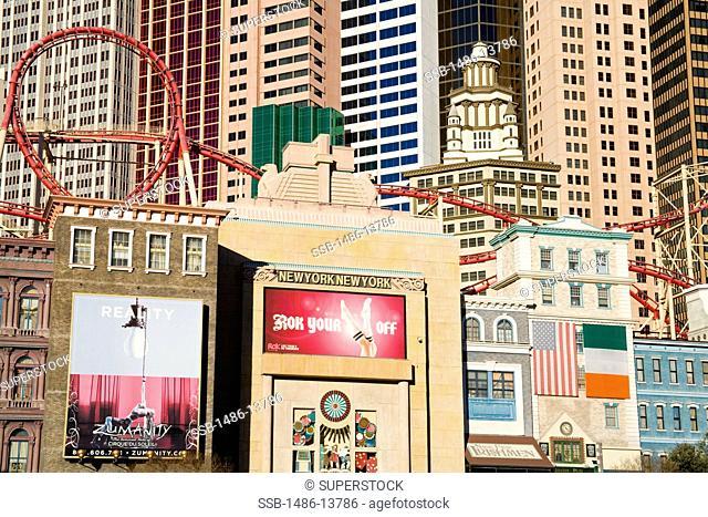 Buildings in a city, New York New York Hotel, The Strip, Las Vegas, Nevada, USA